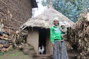 Habtam and her chicken coop
