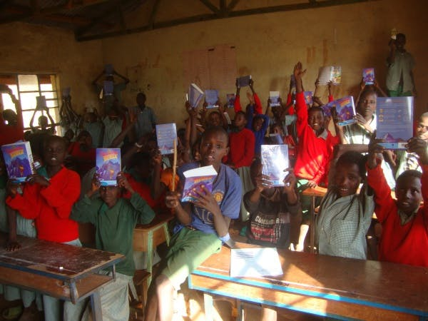 Children enjoying Bible study lesson.