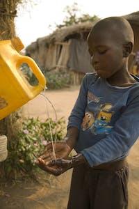 Corporate partnerships help children like this.