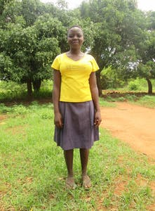 Sponsored child and orphan Alice was given a goat to care for and raise during a livestock distribution. Now, she has seven goats and has been able to pay for her education, school uniforms, shoes, books and pens.