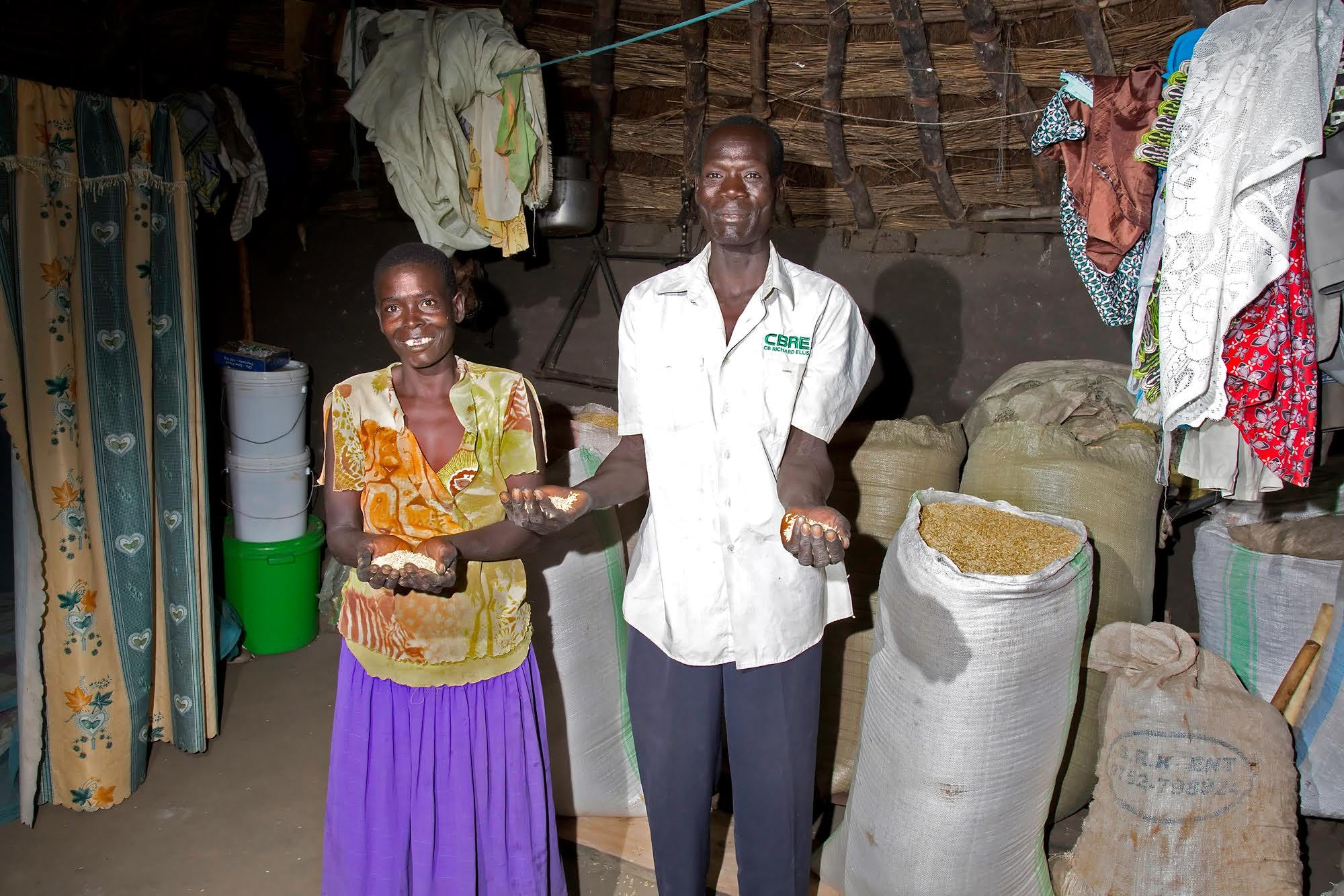 Simon and Mary thrive after agricultural training in Uganda