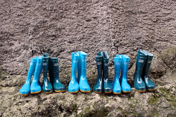 Rainboots provided by Food for the Hungry in the Philippines.