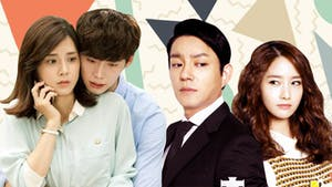 Two K Drama couples looking very worried and concerned.
