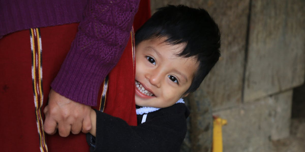 Child in an FH community in Guatemala