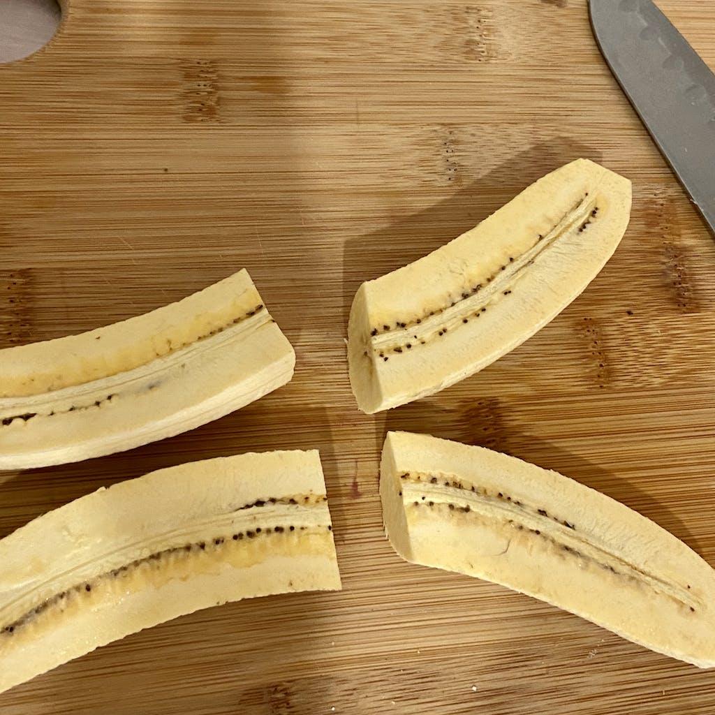 chopped plantains