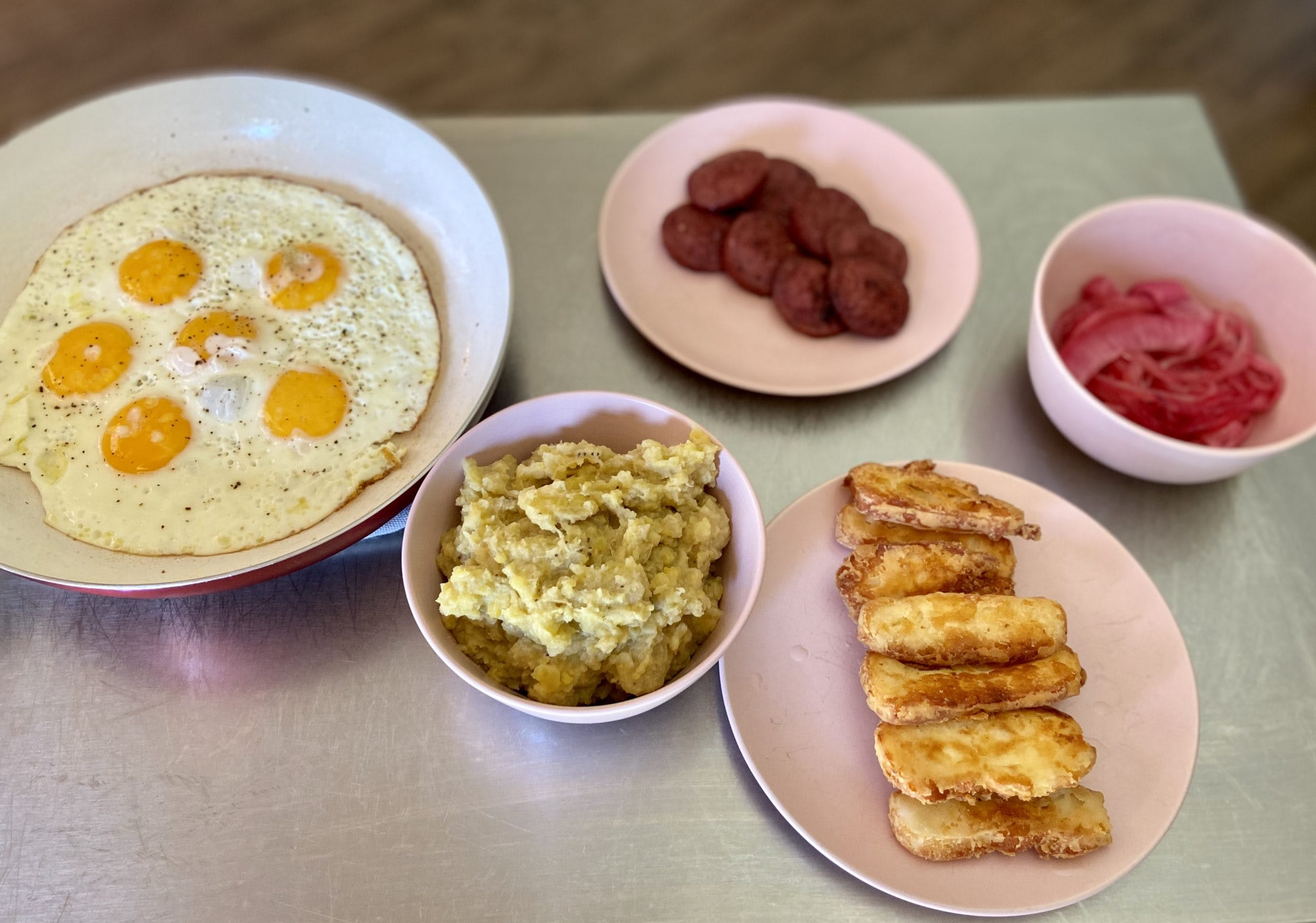 Taste the World: Mangú con Los Tres Golpes Recipe [DR] Featured Image