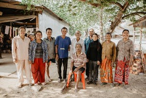 Group of people with disabilities in Cambodia