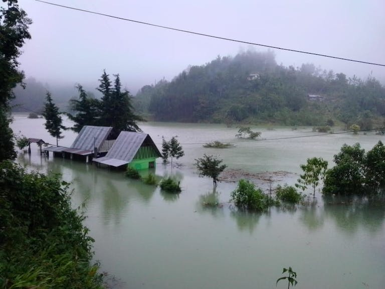 flooded plain in Guatemala Hurricane Eta