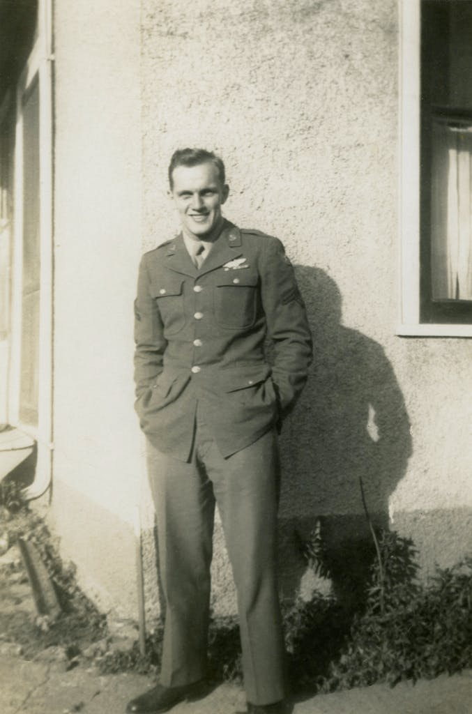 Lawrence Edward Ward as a young man in the Air Force