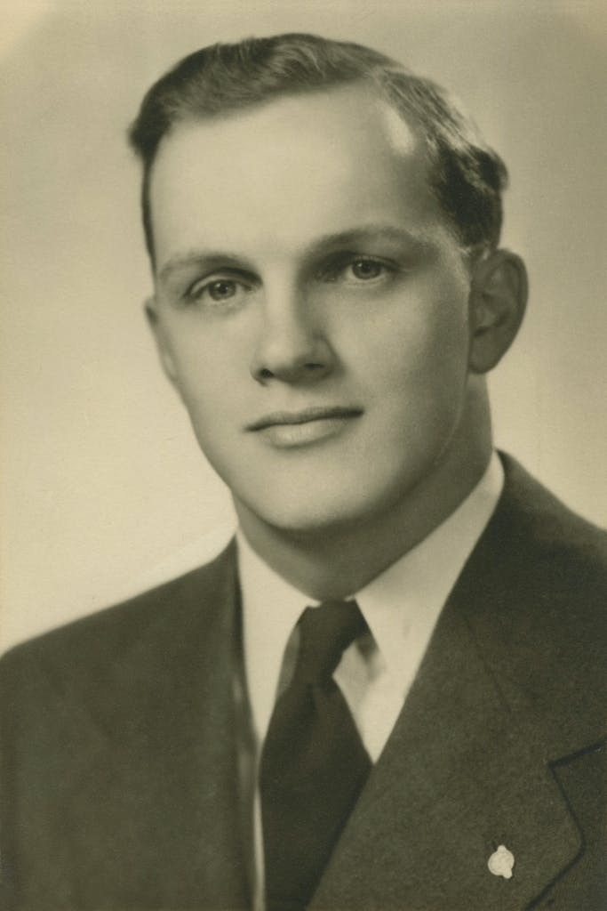 Portrait of Larry Ward as a young adult