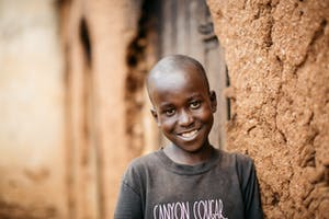 Young Boy in Burundi Smiling