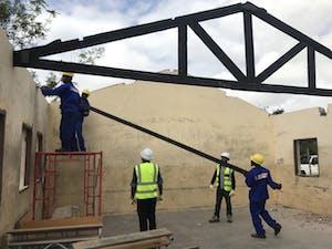 Rebuilding School in Mozambique