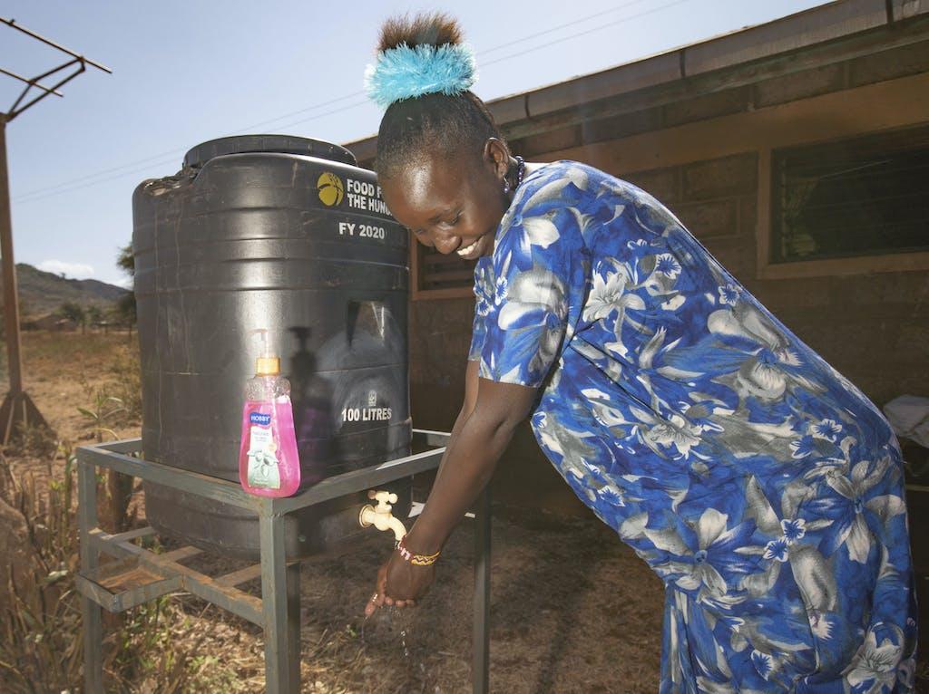 Handwashing Station in Kenya